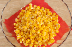 Corn in the salad bowl Stock Photography