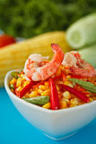 Corn salad thai style. Sour and spicy corn salad in thai style Royalty Free Stock Photos