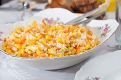 Corn salad Stock Image