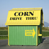 Corn Sales Barn Royalty Free Stock Photography
