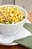 Corn Salsa. With red onion and cilantro stock image