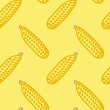 Corn Seamless Pattern Kid's Style Hand Drawn Royalty Free Stock Images