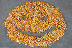 Corn seeds smiley Royalty Free Stock Images