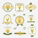Corn, set of label design Royalty Free Stock Photos