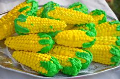 Corn shaped biscuits Stock Image