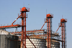 Corn silo Royalty Free Stock Photo
