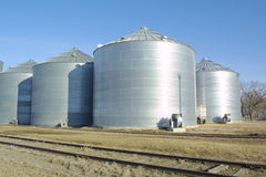 Corn Silos Stock Photos