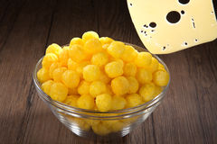 Corn snack. With cheese flavor Royalty Free Stock Photos