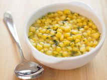 Corn soup Stock Photos