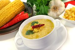 Corn soup Royalty Free Stock Photo