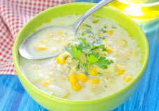 Corn soup Royalty Free Stock Image