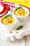 Corn soup. Royalty Free Stock Photos