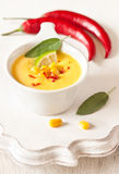 Corn soup. Royalty Free Stock Images