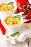 Corn soup. Royalty Free Stock Photography
