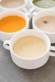 Corn soup. Healthy food style stock images