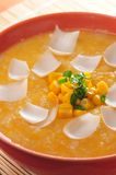 Corn soup with lily Stock Photos