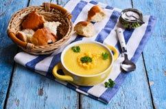Corn soup Stock Image