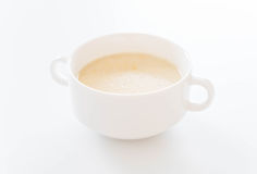 Corn soup. On the table royalty free stock photography