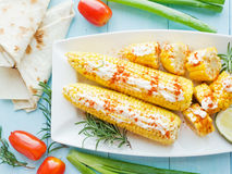 Corn with spices Royalty Free Stock Photo