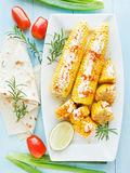 Corn with spices Royalty Free Stock Image