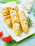 Corn with spices Stock Image