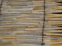 corn-stalk-roof-on-hut Stock Image