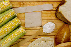 Corn starch with corn Stock Photo