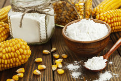 Corn starch on the table Stock Image