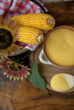 Corn and sunflowers Royalty Free Stock Images