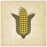 Corn symbol on old background Stock Photography