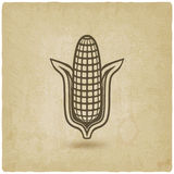 Corn symbol old background Royalty Free Stock Photography