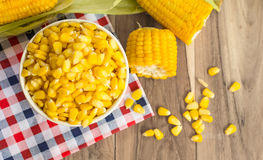 Corn on the table stock photos