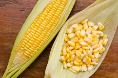Corn on table Royalty Free Stock Photography