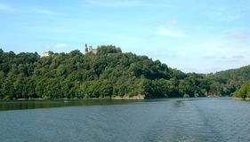 Cornštejn Castel, Moravia, tjeckisk republik Arkivfoton