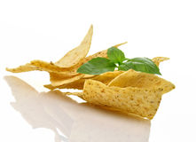 Corn tortilla chips Stock Photos
