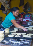Corn tortilla dough factory Royalty Free Stock Images