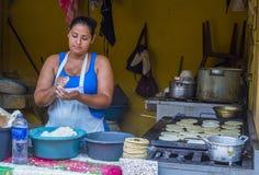 Corn tortilla dough factory Royalty Free Stock Photos