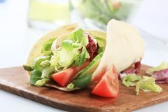 Corn tortilla and vegetable salad Stock Photo