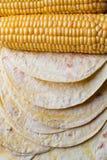 Corn tortillas stock image