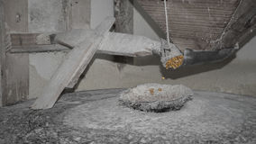 Corn. Transforming corn into flour in a watermill, in Portugal royalty free stock photos