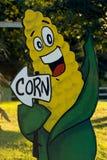 Corn-utopia. Sign for corn Stock Photography