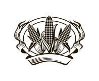 Corn vegetable emblem Stock Photos
