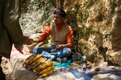 Corn Vendor Royalty Free Stock Images