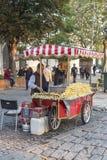 Corn vendors in Istanbul Stock Photos