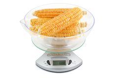 Corn weighed in the balance Stock Image