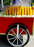 Corn on wheels Stock Images