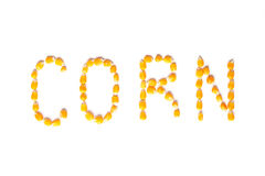 Corn word Royalty Free Stock Images