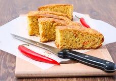 Cornbread сыра Чили Стоковые Фотографии RF