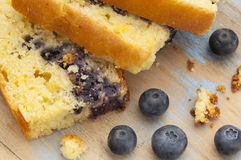 Cornbread with blueberry stock photos
