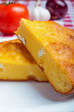 Cornbread with cheese close up Royalty Free Stock Photography